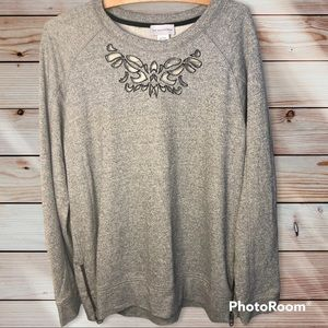 Soft Surroundings Urban Chic Gray Pullover Top